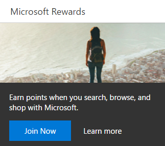 search and browse with microsoft and earn free rewards to