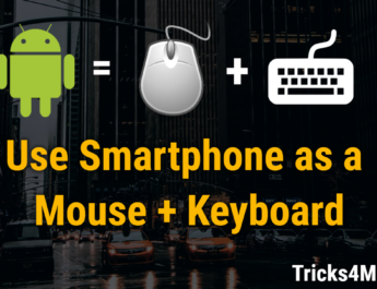 How to turn your Smartphone into Mouse and Keyboard